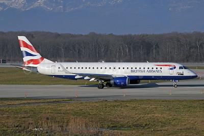 British Airways-BA CityFlyer Embraer ERJ 190-100SR G-LCYN (msn 19000392) (700th) GVA (Paul Denton). Image: 912474.