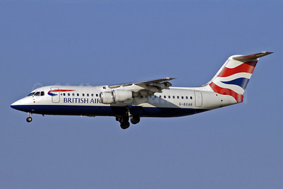 British Airways-BA CityFlyer BAe RJ100 (146-RJ100) G-BXAR (msn E3298) MAD (Jay Selman). Image: 402047.