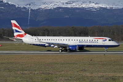 British Airways-BA CityFlyer Embraer ERJ 190-100SR G-LCYJ (msn 19000339) GVA (Paul Denton). Image: 912473.