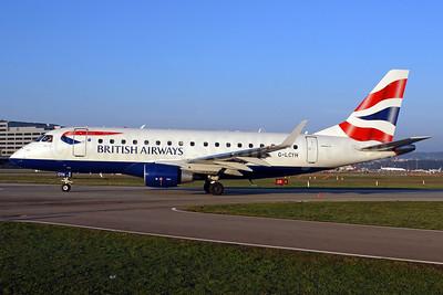 British Airways-BA CityFlyer Embraer ERJ 170-100STD G-LCYH (msn 17000302) ZRH (Rolf Wallner). Image: 906142.