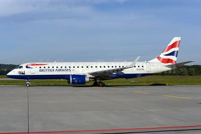 British Airways-BA CityFlyer Embraer ERJ 190-100SR G-LCYN (msn 19000392) (700th) ZRH (Rolf Wallner). Image: 923259.