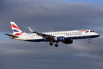 British Airways-BA CityFlyer Embraer ERJ 190-100SR G-LCYW (msn 19000163) SEN (Keith Burton). Image: 948678.