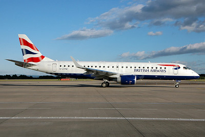 British Airways-BA CityFlyer Embraer ERJ 190-100SR G-LCYM (msn 19000351) MAN (Nik French). Image: 905123.