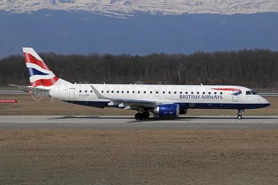 British Airways-BA CityFlyer Embraer ERJ 190-100SR G-LCYP (msn 19000443) GVA (Paul Denton). Image: 912476.