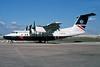 British Airways-Brymon Airways Bombardier DHC-7-110 Dash 7 G-BRYB (msn 66) LHR. Image: 929836.