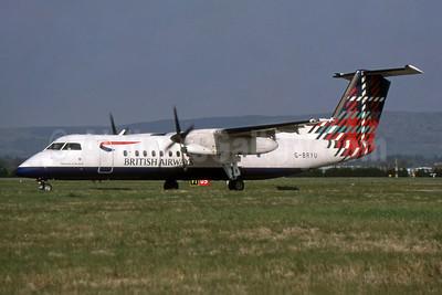 British Airways-Brymon Airways de Havilland Canada DHC-8-311 Dash 8 G-BRYU (msn 458) (Mountain of the Birds - Benyhone - Scotland) GLA (SPA). Image: 954859.