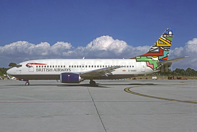 British Airways-GB Airways Boeing 737-3L9 G-OOBD (msn 27833) (Martha Masanabo - Ndebele) CGN (Christian Volpati Collection). Image: 952888.