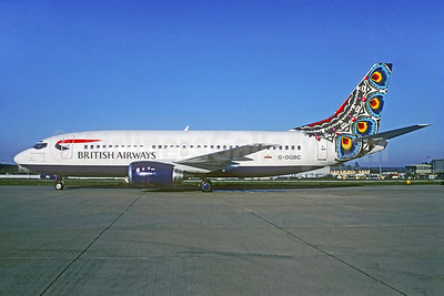 British Airways-GB Airways Boeing 737-34S G-OGBC (msn 29109) (Flowers from Mazowsze) (Christian Volpati Collection). Image: 928900.