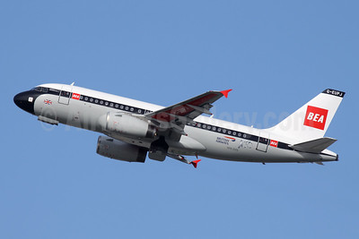 """BA 100 1919 - 2019"" - in BEA's 1959 red square livery"