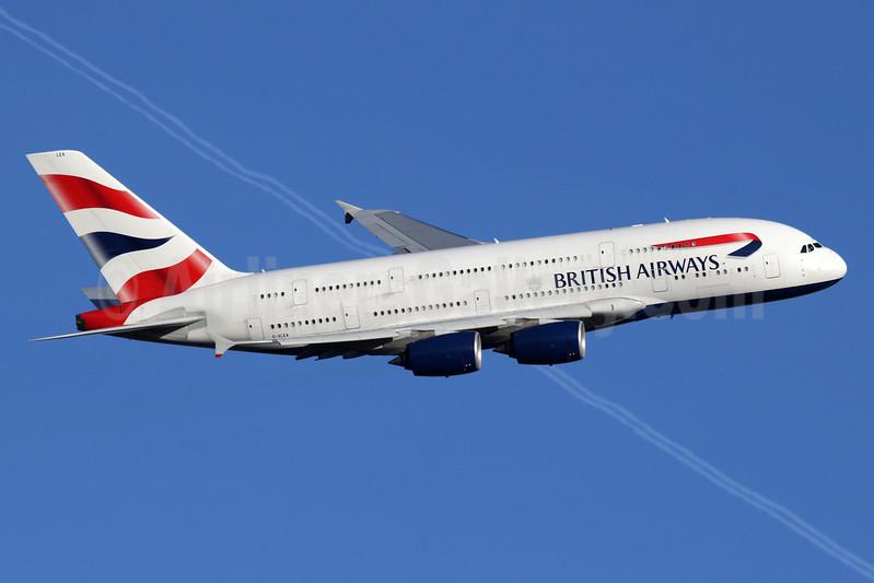 British Airways Airbus A380-841 G-XLEA (msn 095) LHR (SPA). Image: 940137.