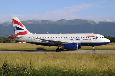 British Airways Airbus A319-131 G-EUOF (msn 1590) GVA (Paul Denton). Image: 910117.