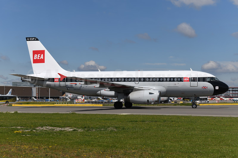 BEA - British Airways Airbus A319-131 G-EUPJ (msn 1232) AMS (Ton Jochems). Image: 946679.