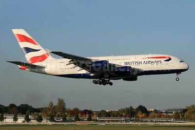 British Airways Airbus A380-841 G-XLED (msn 144) LHR (SPA). Image: 935793.