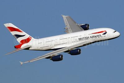 British Airways Airbus A380-841 G-XLEB (msn 121) LHR (SPA). Image: 940465.