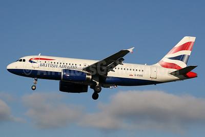 British Airways Airbus A319-131 G-EUOE (msn 1574) LHR (SPA). Image: 926793.