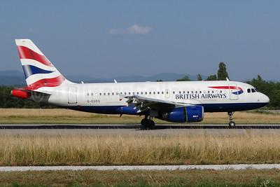 British Airways Airbus A319-131 G-EUOG (msn 1594) BSL (Paul Bannwarth). Image: 931056.
