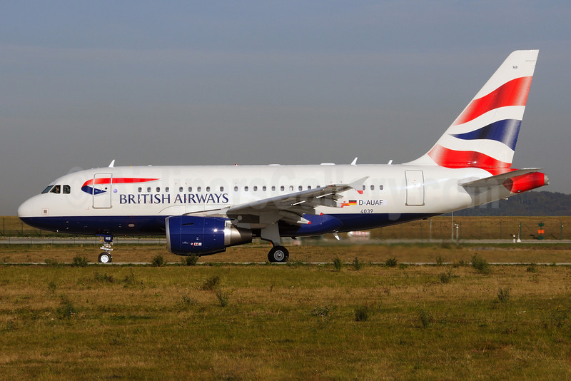 British Airways Airbus A318-112 D-AUAF (G-EUNB) (msn 4039) XFW (Gerd Beilfuss). Image: 903637.
