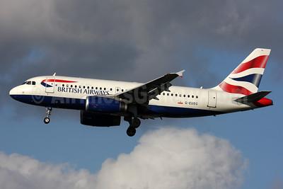 British Airways Airbus A319-131 G-EUOG (msn 1594) LHR (SPA). Image: 925143.
