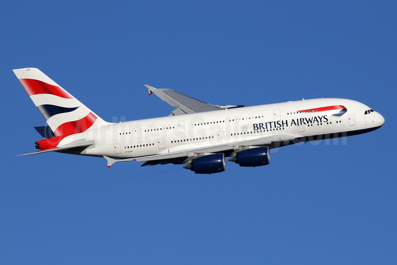 British Airways Airbus A380-841 G-XLEH (msn 163) LHR (SPA). Image: 935866.
