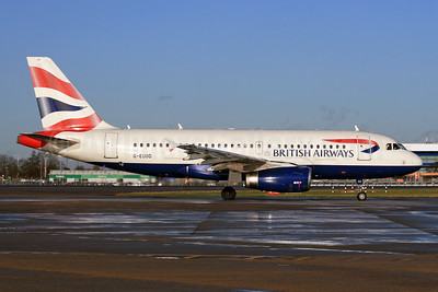 British Airways Airbus A319-131 G-EUOD (msn 1558) LHR (SPA). Image: 926742.