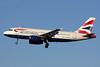 British Airways Airbus A319-131 G-EUOB (msn 1529) LHR (SPA). Image: 926792.
