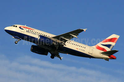 British Airways Airbus A319-131 G-EUOB (msn 1529) LHR (SPA). Image: 931157.