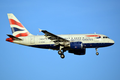 British Airways Airbus A318-112 G-EUNA (msn 4007) JFK (Jay Selman). Image: 402362.