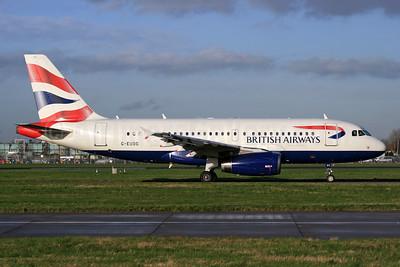 British Airways Airbus A319-131 G-EUOC (msn 1537) LHR. Image: 926741.
