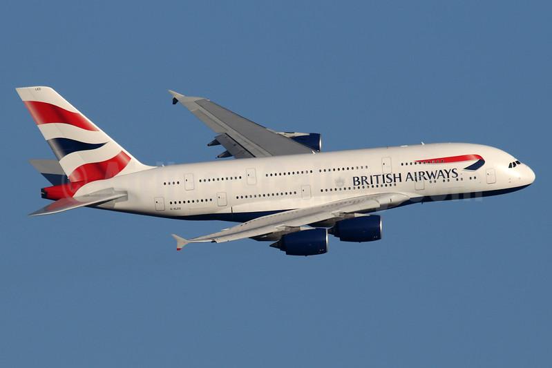British Airways Airbus A380-841 G-XLED (msn 144) LHR (SPA). Image: 940743.