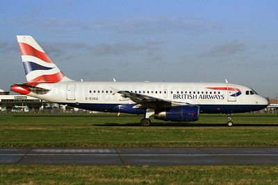 British Airways Airbus A319-131 G-EUOA (msn 1513) LHR (SPA). Image: 931156.