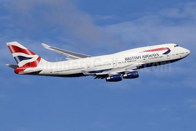 British Airways Boeing 747-436 G-BYGE (msn 28858) LHR (SPA). Image: 935184.