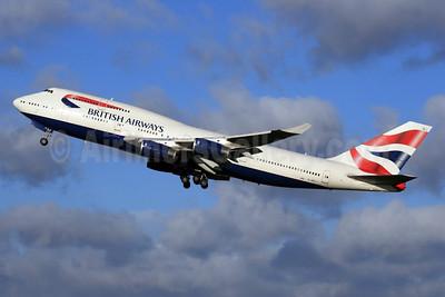 British Airways Boeing 747-436 G-BNLJ (msn 24052) LHR (SPA). Image: 926765.