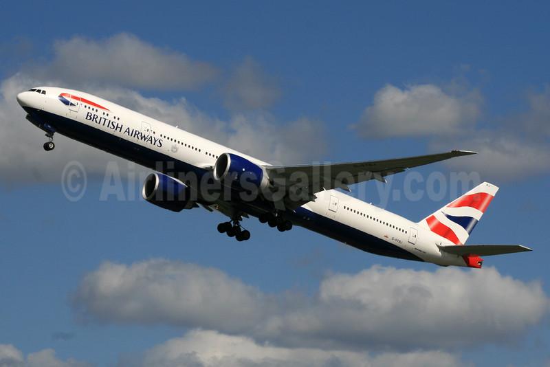 British Airways Boeing 777-336 ER G-STBJ (msn 43703) LHR (SPA). Image: 925141.