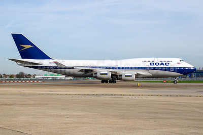BOAC (British Airways) Boeing 747-436 G-BYGC (msn 25823) (British Airways 100 1919-2019) LHR (Wingnut). Image: 946071.