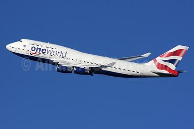 British Airways Boeing 747-436 G-CIVK (msn 25818) (Oneworld) LHR (SPA). Image: 940520.