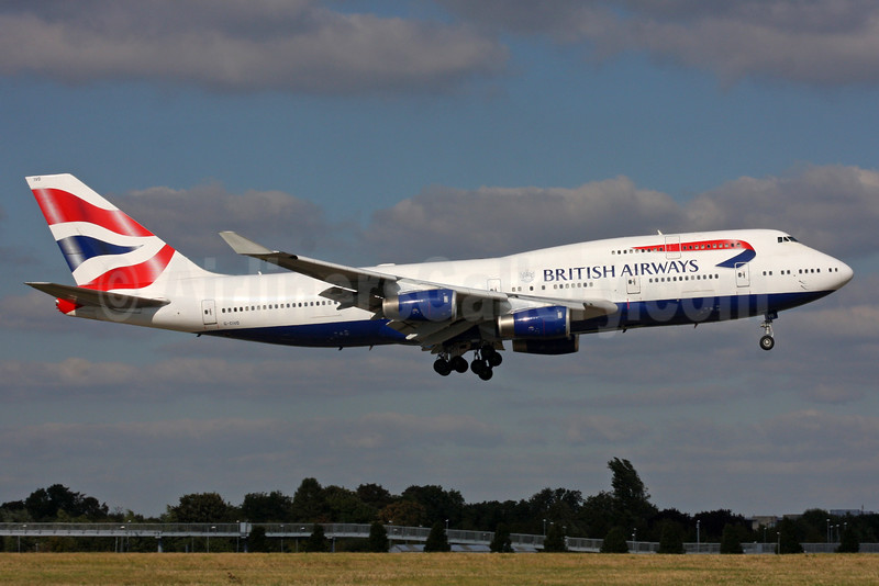 British Airways Boeing 747-436 G-CIVO (msn 28849) LHR (SPA). Image: 935844.