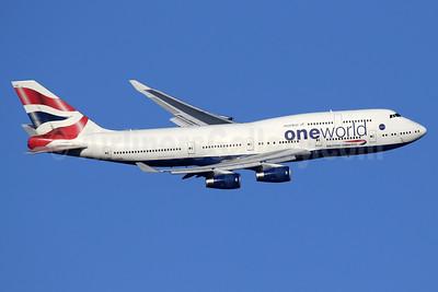 British Airways Boeing 747-436 G-CIVK (msn 25818) (Oneworld) LHR (SPA). Image: 940521.