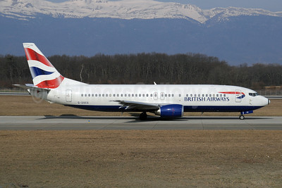 British Airways Boeing 737-436 G-DOCS (msn 25852) GVA (Paul Denton). Image: 910112.