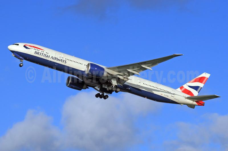 British Airways Boeing 777-36N ER G-STBE (msn 38696) LHR (SPA). Image: 942856.
