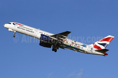 British Airways' 2005 BBC Peter Blue special livery