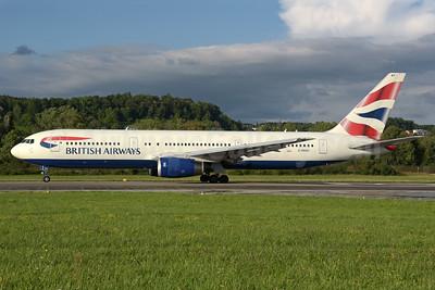 British Airways Boeing 767-336 ER G-BNWX (msn 25832) ZRH (Rolf Wallner). Image: 938928.