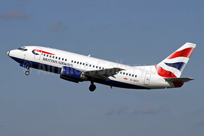 British Airways Boeing 737-528 G-GFFI (msn 27425) LGW (SPA). Image: 941774.