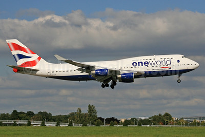 British Airways Boeing 747-436 G-CIVP (msn 28850) (Oneworld) LHR (SPA). Image: 940133.