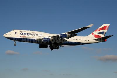 British Airways Boeing 747-436 G-CIVK (msn 25818) (Oneworld) LHR (SPA). Image: 940519.