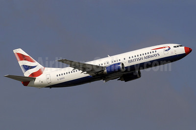 British Airways Boeing 737-436 G-DOCX (msn 25857) (red nose) GVA (Paul Denton). Image: 906351.