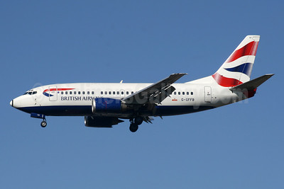 British Airways Boeing 737-505 G-GFFB (msn 25789) LGW (SPA). Image: 940806.