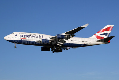British Airways Boeing 747-436 G-CIVP (msn 28850) (Oneworld) LHR (SPA). Image: 940135.