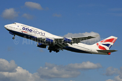 British Airways Boeing 747-436 G-CIVP (msn 28850) (Oneworld) LHR (SPA). Image: 940134.