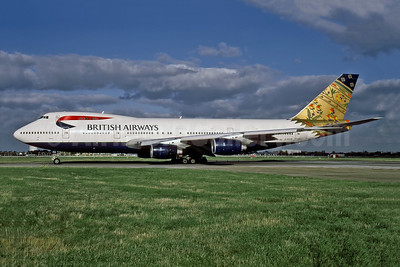 British Airways Boeing 747-236B G-BDXO (msn 23799) (Paithani - India) LHR (Paul Hooper - Rob Rindt Collection). Image: 997776.