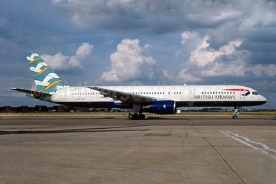 British Airways Boeing 757-236 G-CPEM (msn 28665) (Blue Poole - England) LHR (SPA). Image: 930644.